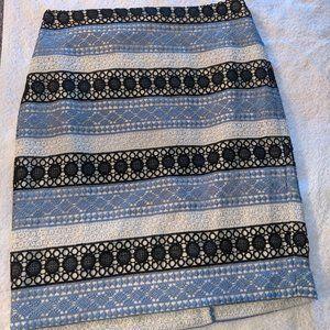 Talbots Striped Lace Skirt (Petite)